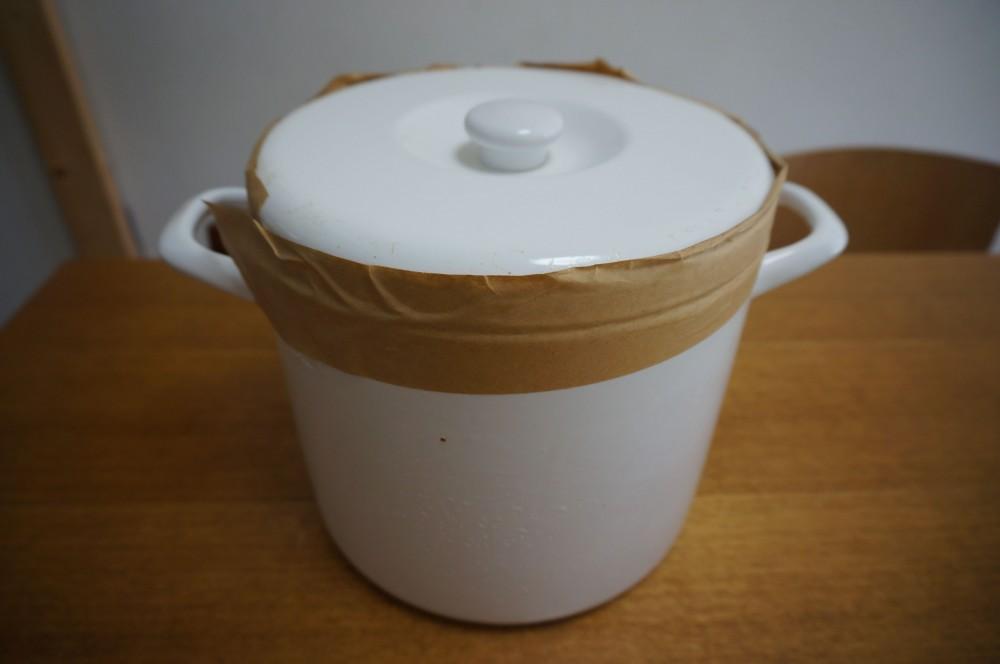 麦麹味噌の開封